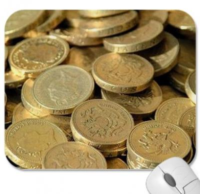 Gold Coins Mouse Mat