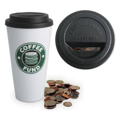 Start your coffee coin fund with this money box