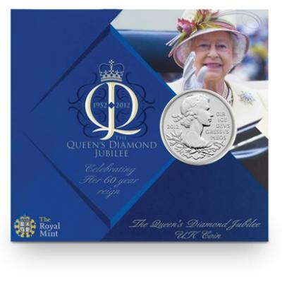 The coin's presentation folder is filled with facts about the Queen's achievements throughout her reign